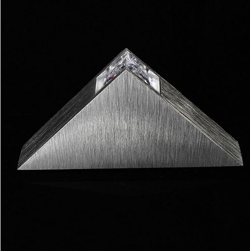 [[KO]]現代の Led  ウォールランプ  3 ワットアルミボディの三角形 ウォールライト寝室ホーム照明器具 バスルーム照明器具壁燭台_画像4