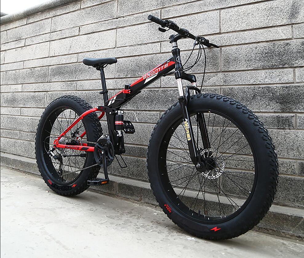 折り畳み自転車 26インチ 完成品 マウンテンバイク ディスクブレーキ アルミ 21段変速 極太タイヤ _画像2