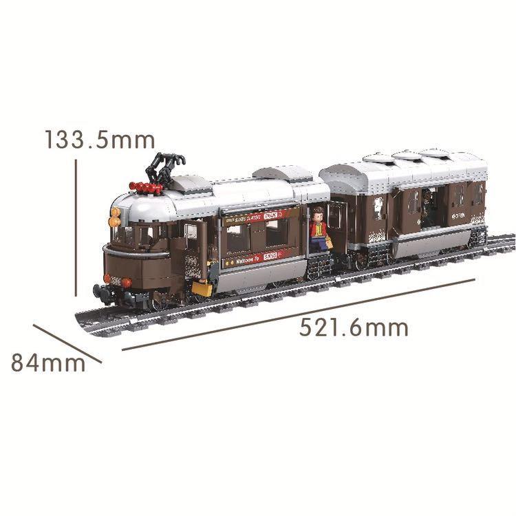 レゴ互換 路面電車風 トレイン_画像2