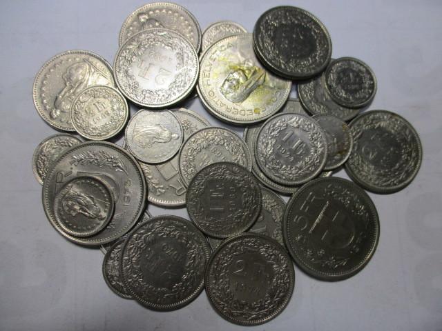 ■外国コイン・古銭■スイスの貨幣50スイスフラン分まとめて 硬貨
