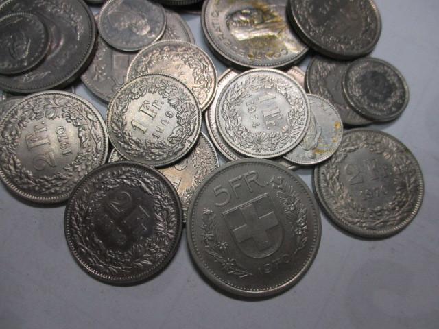 ■外国コイン・古銭■スイスの貨幣50スイスフラン分まとめて 硬貨_画像3