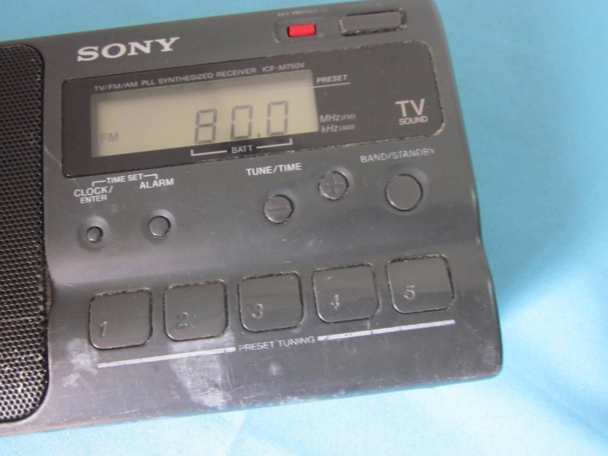 SONY FM/AM PLLシンセサイザーポータブルラジオ ICF-M750V_画像2