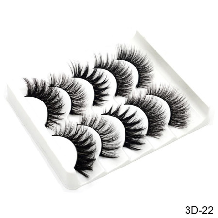 eyelashes extensions SEXYSHEEP 5Pairs 3D mink hair natural / Schic long eyelashes wi Spee extension tool mt137