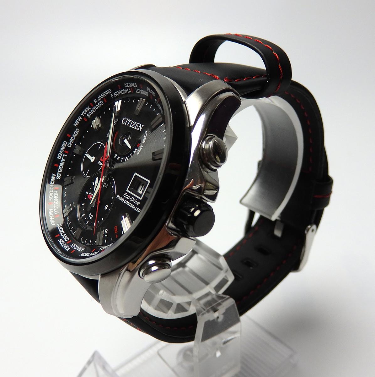 ■□【美品】シチズン CITIZEN エコドライブ AT9065-00E ダブルダイレクトフライト 限定モデル 電波 ソーラー メンズ 腕時計□■_画像3