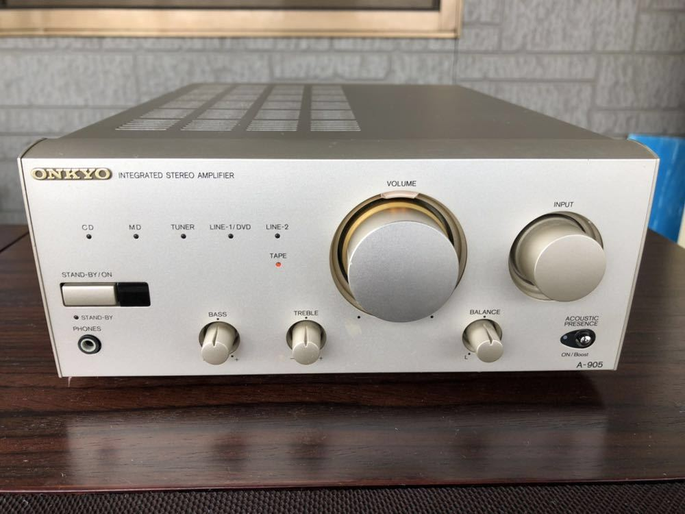 ONKYO ステレオアンプ A-905 オンキョー INTEGRATED STEREO AMPLIFIER