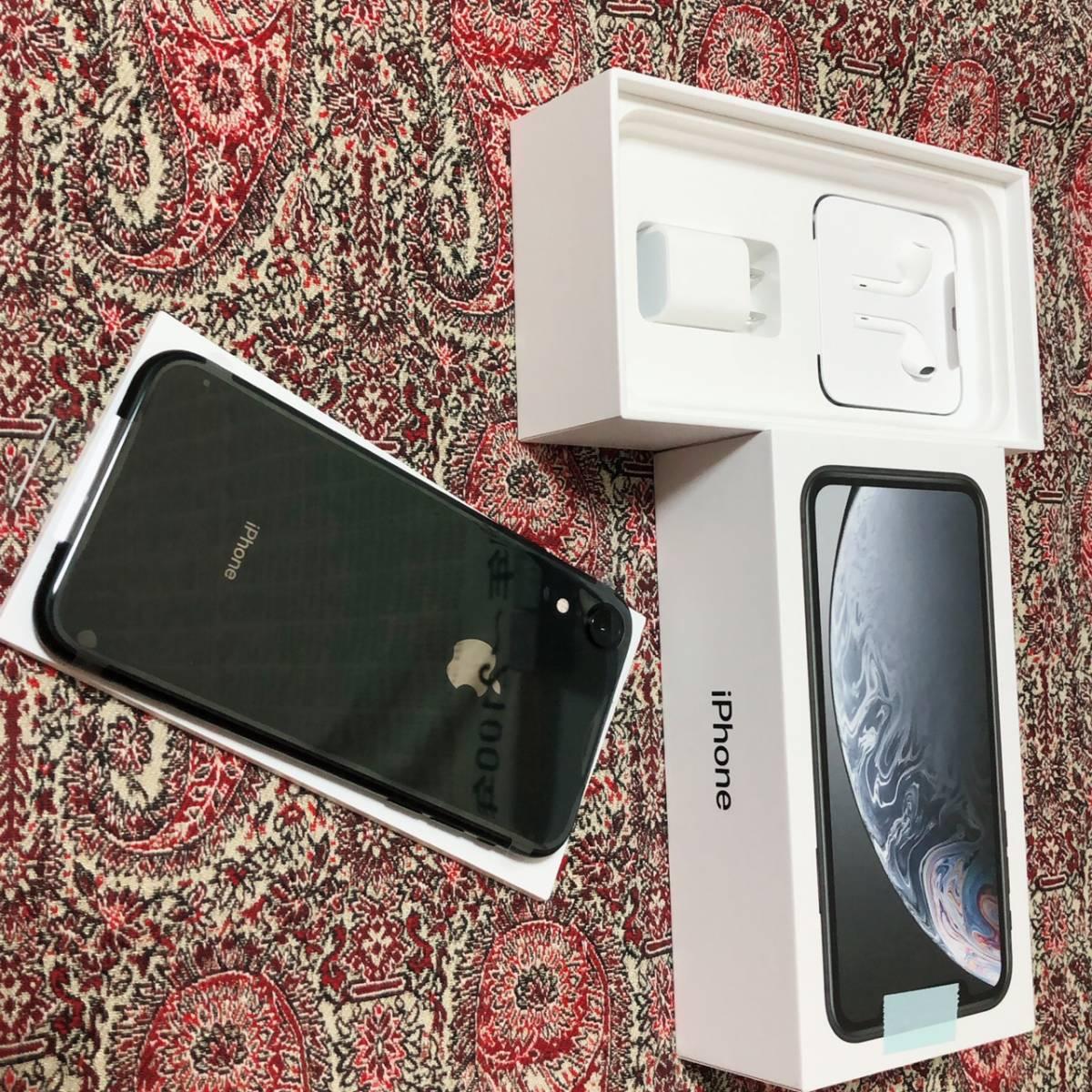 未使用/Apple/MT002J/A/iPhone/SIMロック解除済みSIMフリー iPhoneXR 64GB ブラック 本体 _画像2
