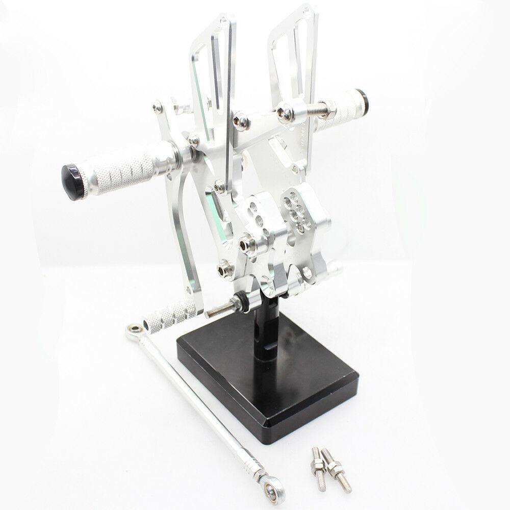 お買い得 高品質 カワサキ ZX-10R ~2005 バックステップ シルバー_画像1