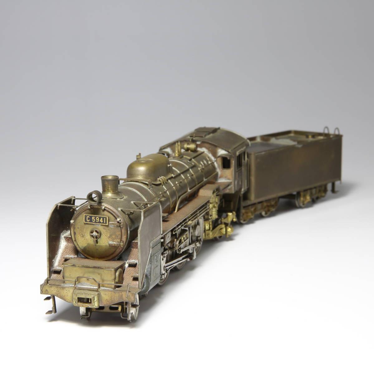 メーカー不明 国鉄 C59 蒸気機関車 未塗装 送料無料