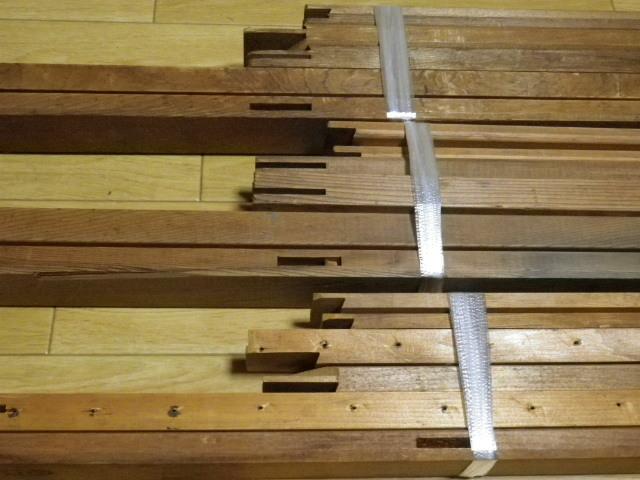 キャンバス木枠 P60 P50 P30 計3個 送料込み価格●P30のみ釘穴あり中古 長期保管品 変色 ヤケあります_画像3