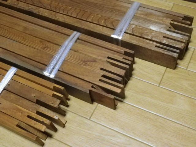 キャンバス木枠 P60 P50 P30 計3個 送料込み価格●P30のみ釘穴あり中古 長期保管品 変色 ヤケあります_画像5