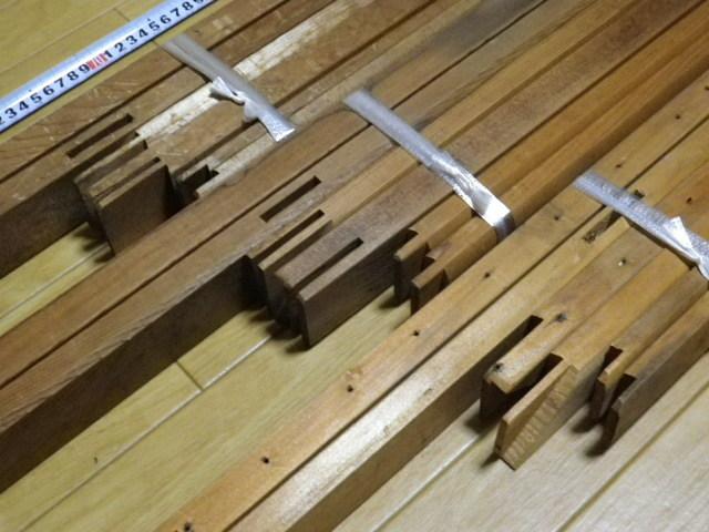 キャンバス木枠 P60 P50 P30 計3個 送料込み価格●P30のみ釘穴あり中古 長期保管品 変色 ヤケあります_画像6