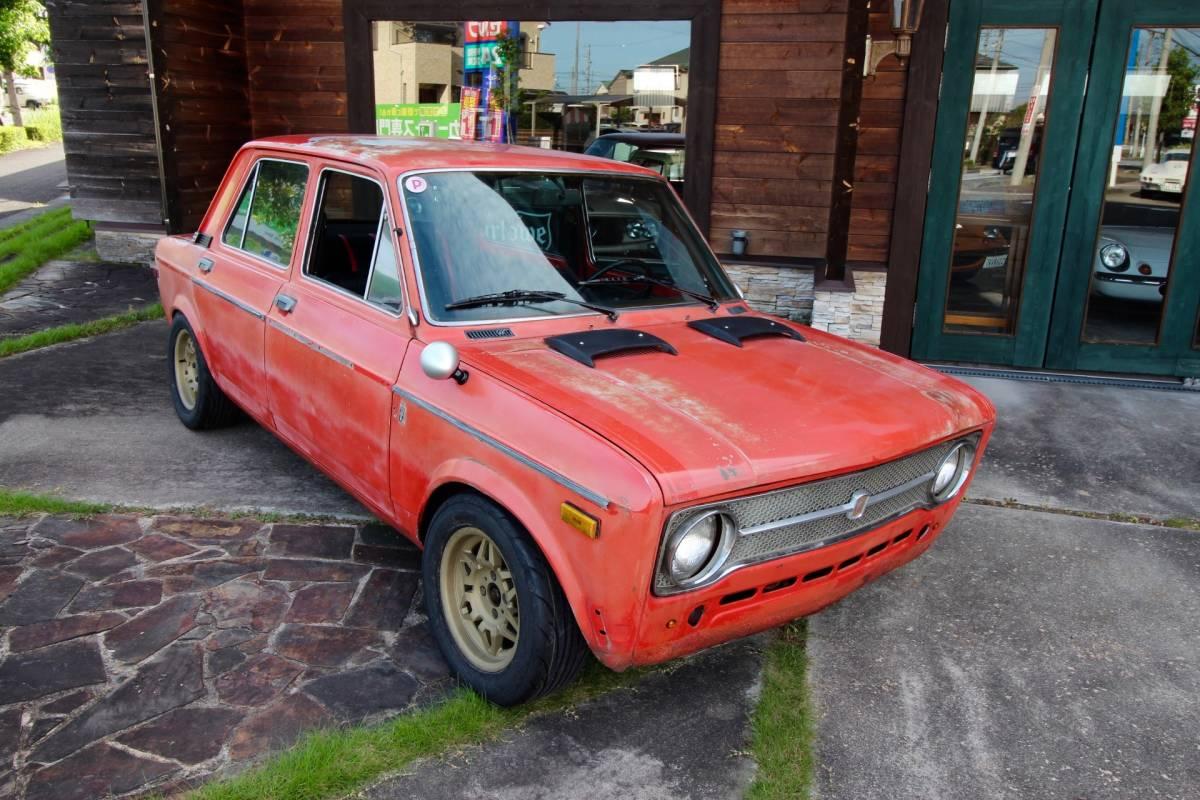 「最落なし!! '73FIAT128A 4S 新品コブラシートX2 リビルトヴィンテージホイル!新品タイヤ!」の画像1