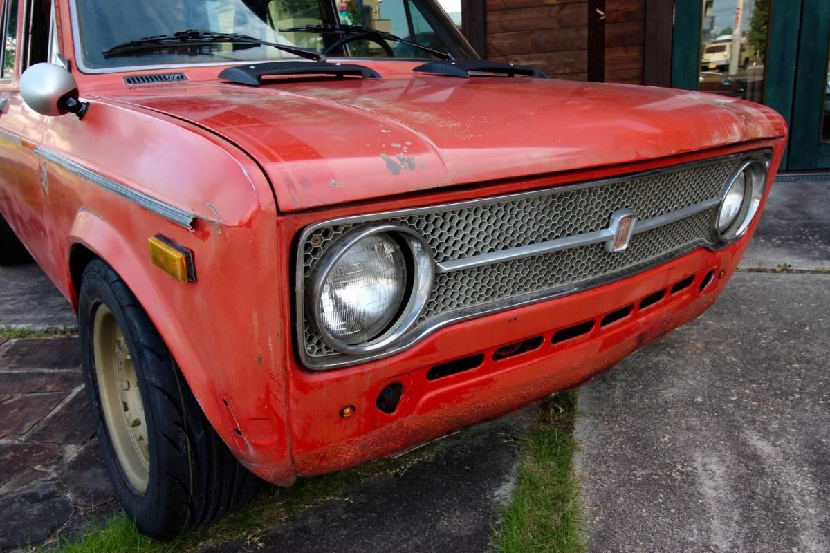 「最落なし!! '73FIAT128A 4S 新品コブラシートX2 リビルトヴィンテージホイル!新品タイヤ!」の画像2