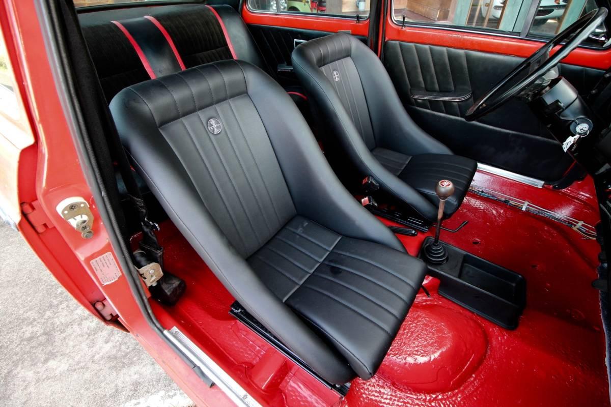 「最落なし!! '73FIAT128A 4S 新品コブラシートX2 リビルトヴィンテージホイル!新品タイヤ!」の画像3
