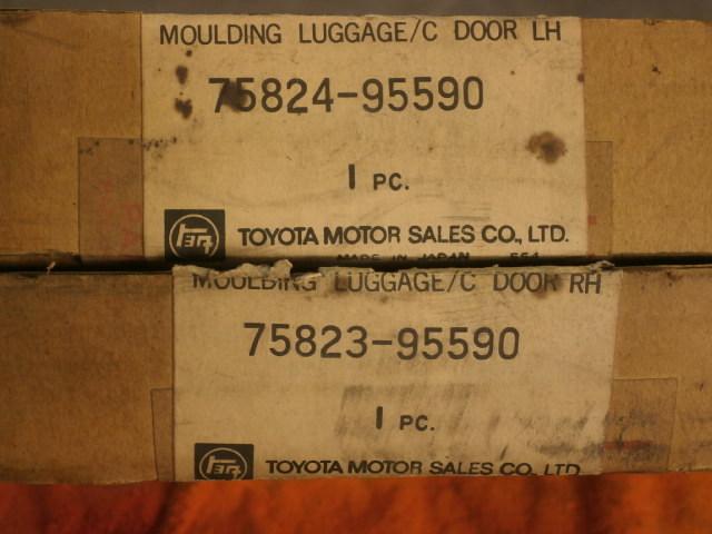 希少品 新品・未使用 当時物 トヨタ純正 左右メッキモール MOULDING LUGGAGE/C DOOR LH RH 品番 75823-95590 75824-95590 旧車_画像2