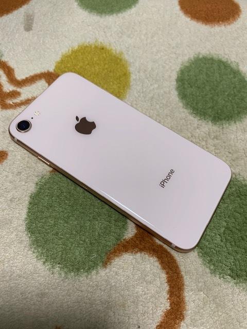 【美品、水没ジャンク】アップルApple iPhone 8 Gold 256GB ゴールド au SIMロックフリー MQ9Q2J/A(A1898)_画像2