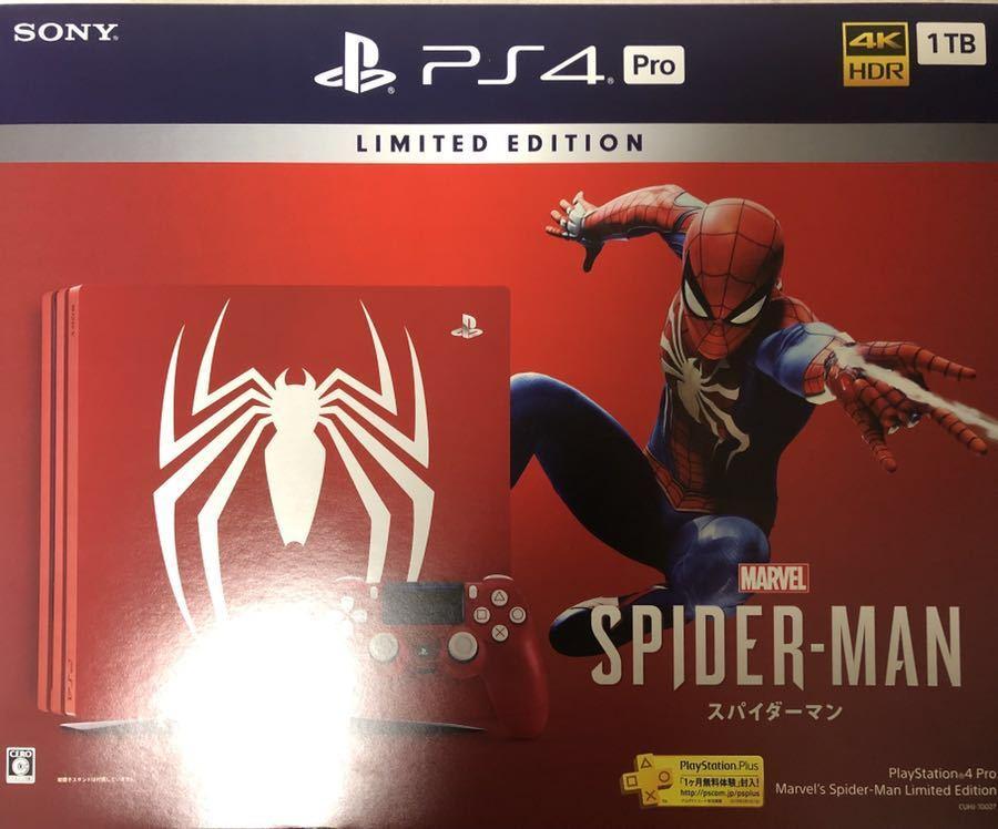 PlayStation 4 Pro Marvel's Spider-Man Limited Edition ソフト無 スパイダーマン マーベル 1TB_画像2
