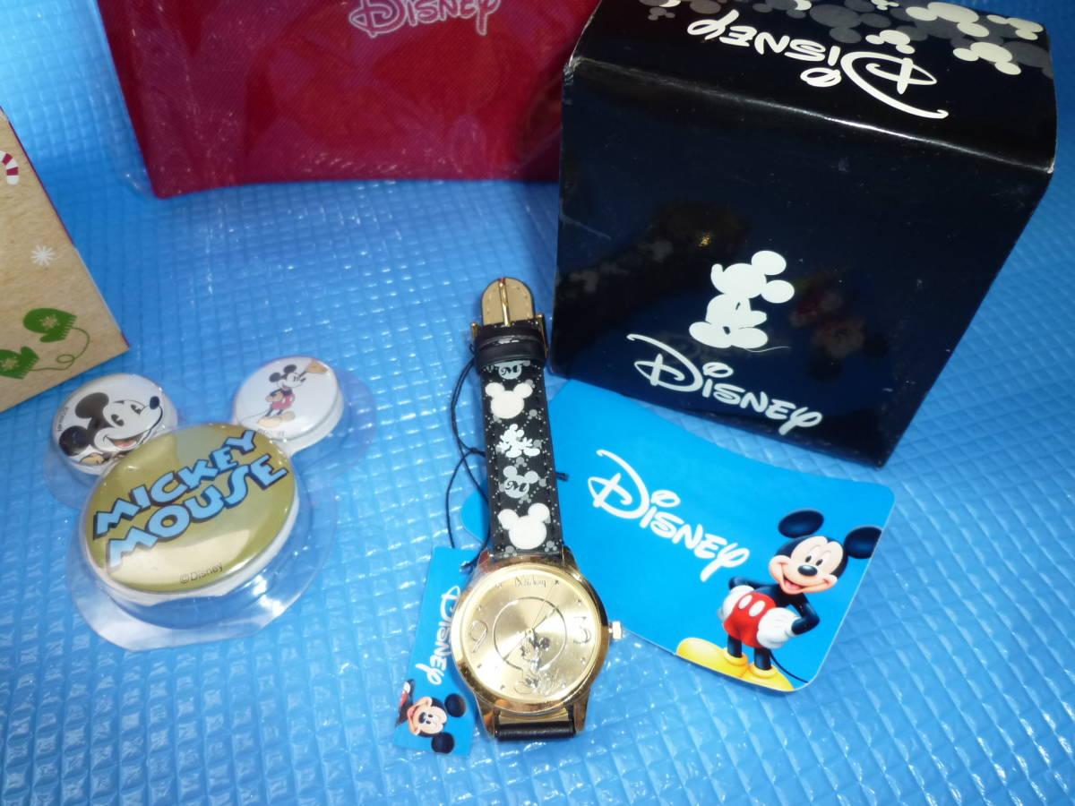 a★未使用★Disneyミッキーマウス 腕時計とディズニーストア オーナメント他4点_画像2