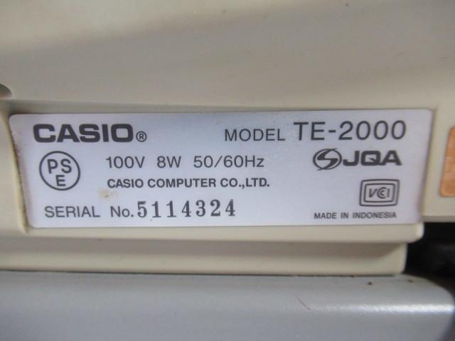 ■中古■CASIO/カシオ 電子レジスター Model:TE-2000 動作・印字確認済_画像3