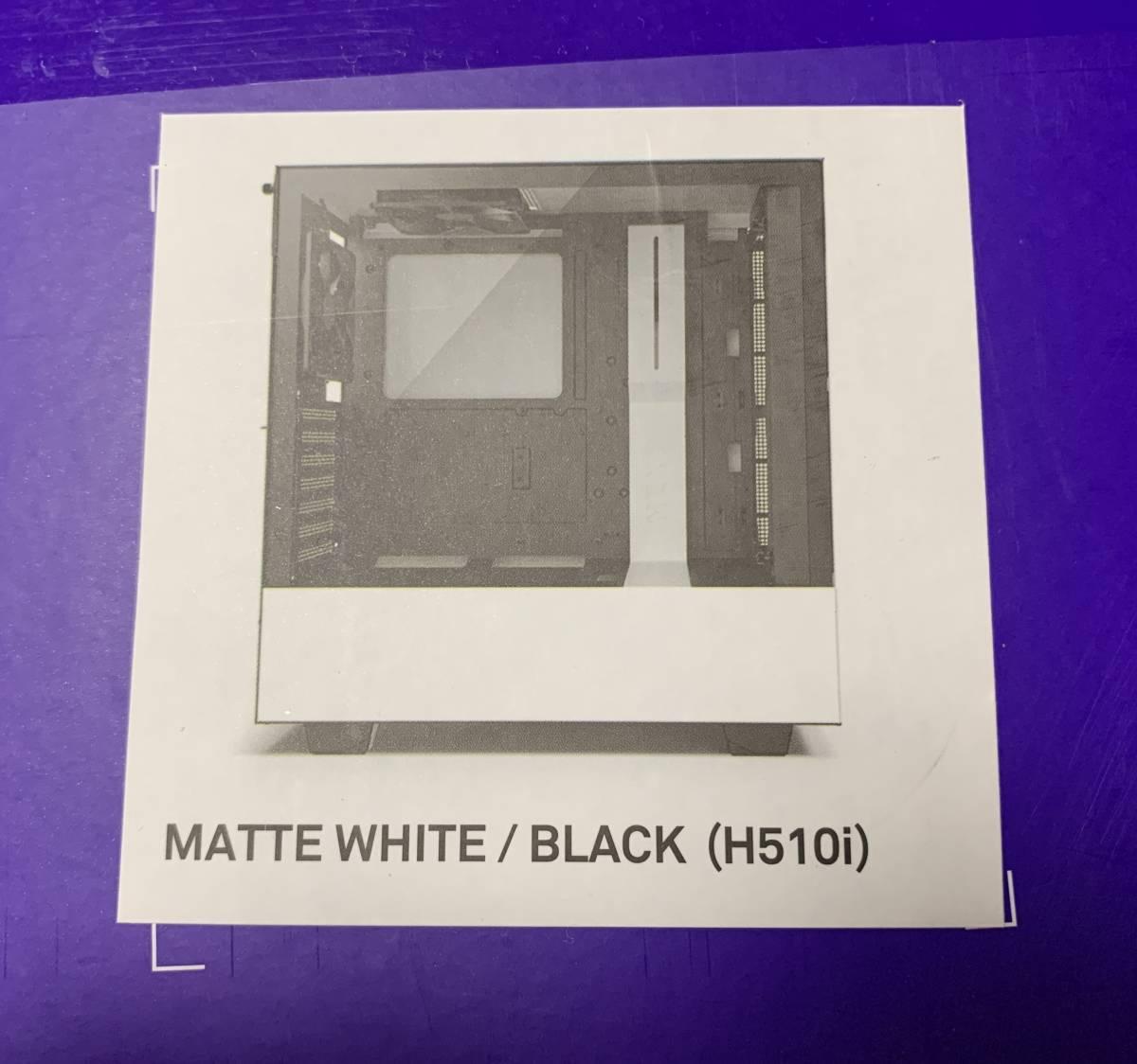 【新品】NZXT PCケース「H510i / CA-H510I-W1」(白/黒)スマートデバイス搭載モデル Mini-ITX,MicroATX,ATX_画像2