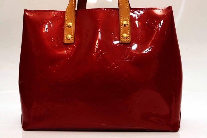 【美品】ルイヴィトン Louis Vuitton モノグラム ヴェルニリードPM M91088 ルージュ 赤 ハンドバッグ カバン 鞄 _画像2
