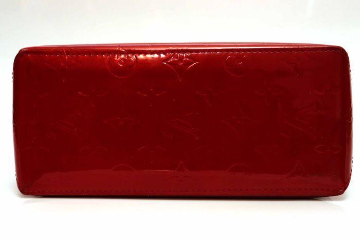 【美品】ルイヴィトン Louis Vuitton モノグラム ヴェルニリードPM M91088 ルージュ 赤 ハンドバッグ カバン 鞄 _画像3