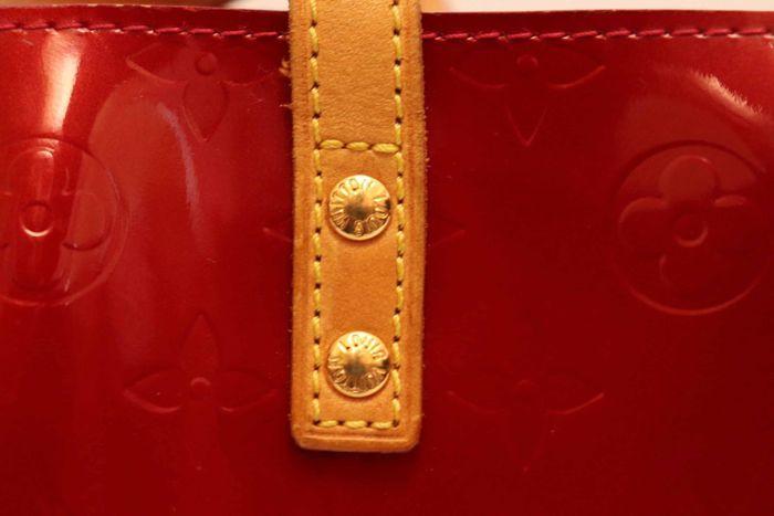 【美品】ルイヴィトン Louis Vuitton モノグラム ヴェルニリードPM M91088 ルージュ 赤 ハンドバッグ カバン 鞄 _画像6