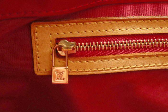 【美品】ルイヴィトン Louis Vuitton モノグラム ヴェルニリードPM M91088 ルージュ 赤 ハンドバッグ カバン 鞄 _画像7