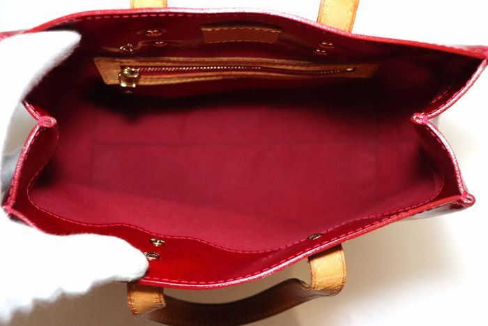 【美品】ルイヴィトン Louis Vuitton モノグラム ヴェルニリードPM M91088 ルージュ 赤 ハンドバッグ カバン 鞄 _画像8