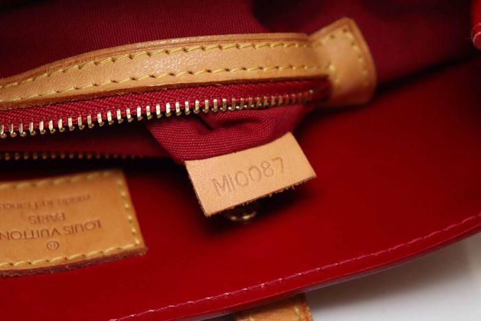【美品】ルイヴィトン Louis Vuitton モノグラム ヴェルニリードPM M91088 ルージュ 赤 ハンドバッグ カバン 鞄 _画像10