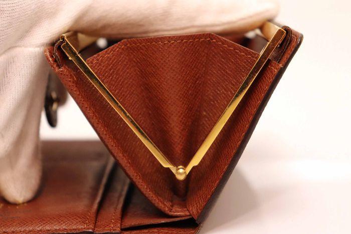 使用僅か【極美品】Louis Vuitton ルイヴィトン モノグラム ポルトモネ ビエ ヴィエノワ 二つ折り がま口 財布 M61663_画像6