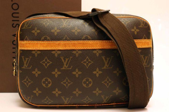 【美品】ルイヴィトン Louis Vuitton モノグラム リポーターPM ショルダーバッグ 斜め掛け メッセンジャーバッグ 鞄 定価約16万円_画像3