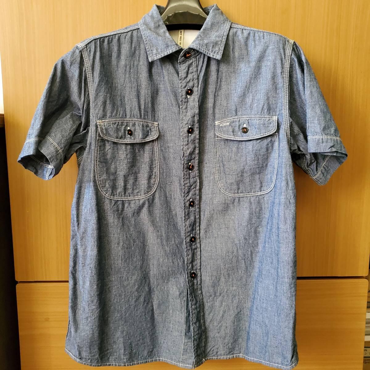KATO BASIC 半袖 シャンブレー ワークシャツ ONE WASH サイズM カトー