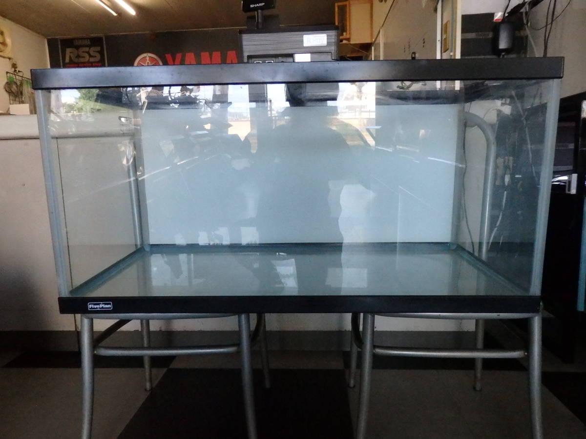 大型ガラス水槽 90×45×45 ディスカス アロワナ 大型魚 小型熱帯魚 中古品引取限定
