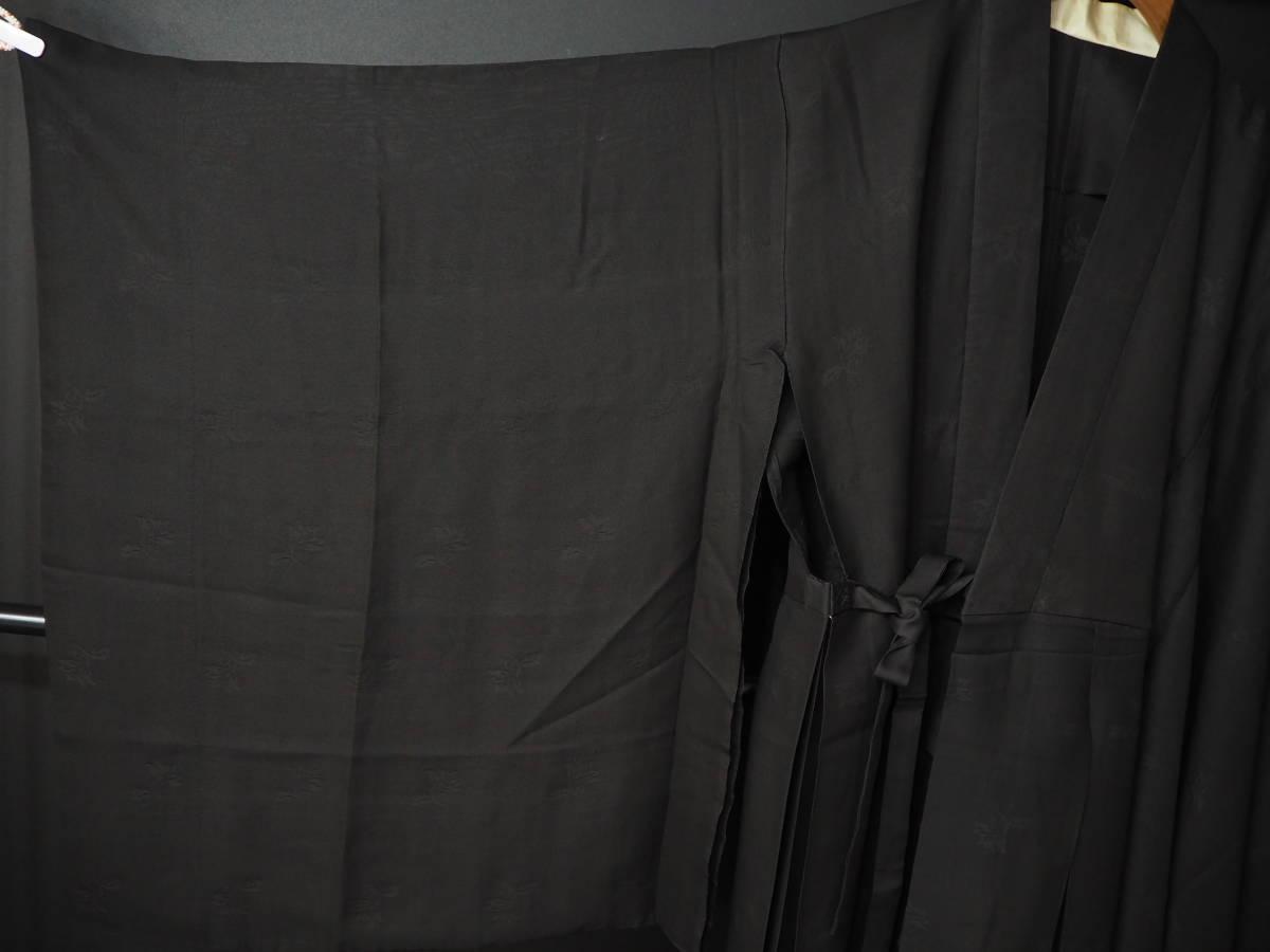 ◆紋紗織◆美品◆法衣◆装束◆正絹◆黒地◆裄86,5㎝袖丈79㎝肩丈115㎝◆◆佛教神職七条袈裟五条袈裟横被装束神主巫女神社寺_画像2