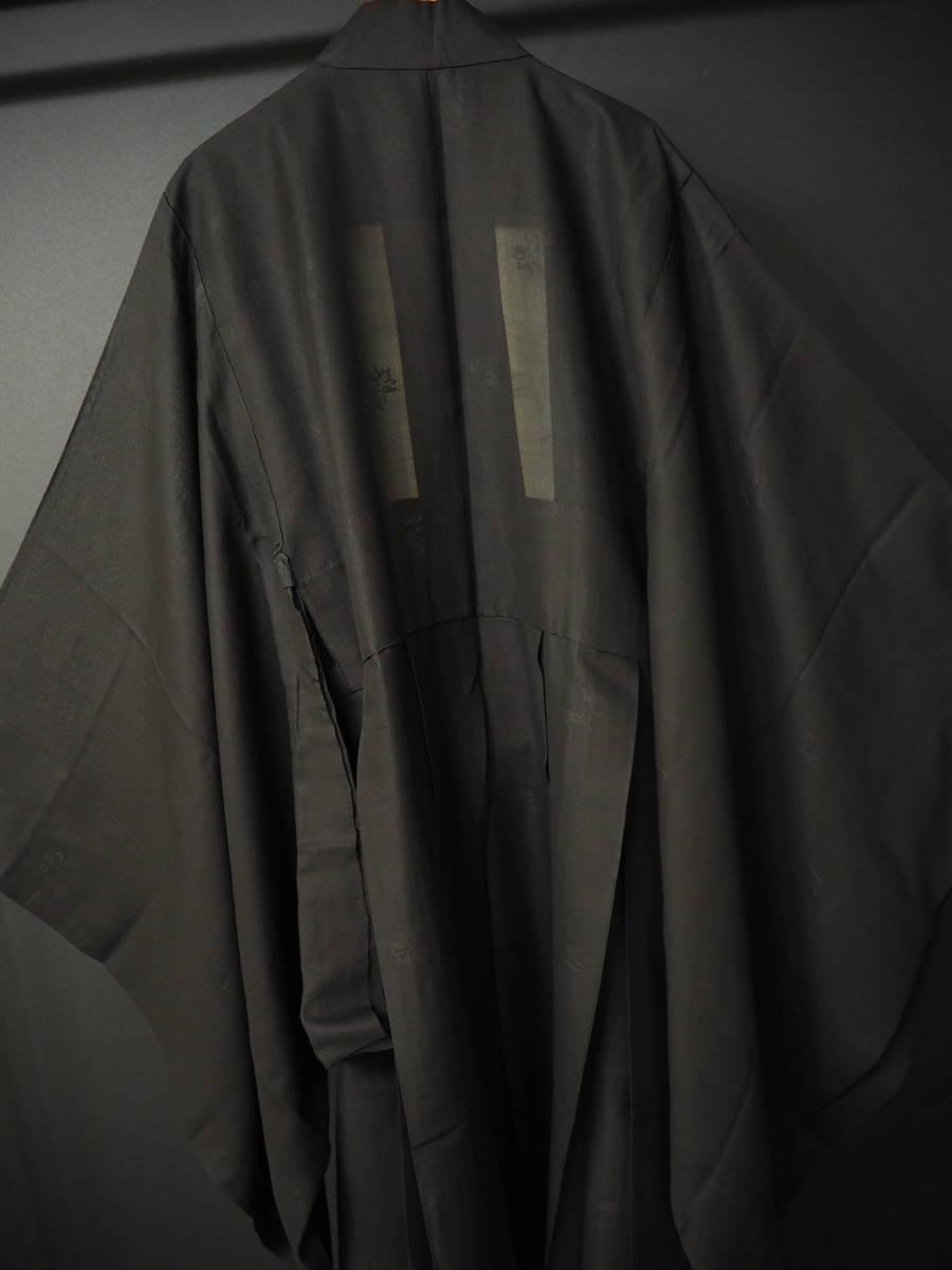 ◆紋紗織◆美品◆法衣◆装束◆正絹◆黒地◆裄86,5㎝袖丈79㎝肩丈115㎝◆◆佛教神職七条袈裟五条袈裟横被装束神主巫女神社寺_画像5