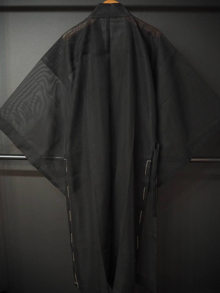 ◆紗織◆木崎法衣店◆未使用◆装束◆化繊◆黒地◆裄70㎝袖丈51㎝肩丈121㎝◆◆佛教神職七条袈裟五条袈裟横被装束神主巫女神社寺和尚_画像6