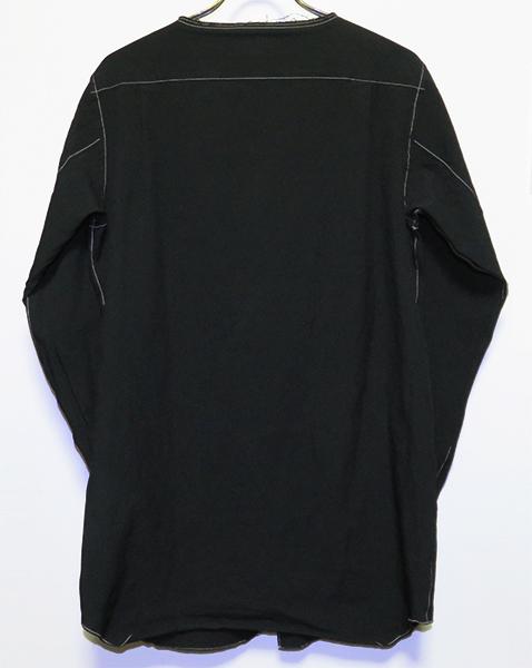 COMME des GARCONS HOMME PLUS 13AW ノーカラーポリステッチシャツ S コムデギャルソンオムプリュス_画像2