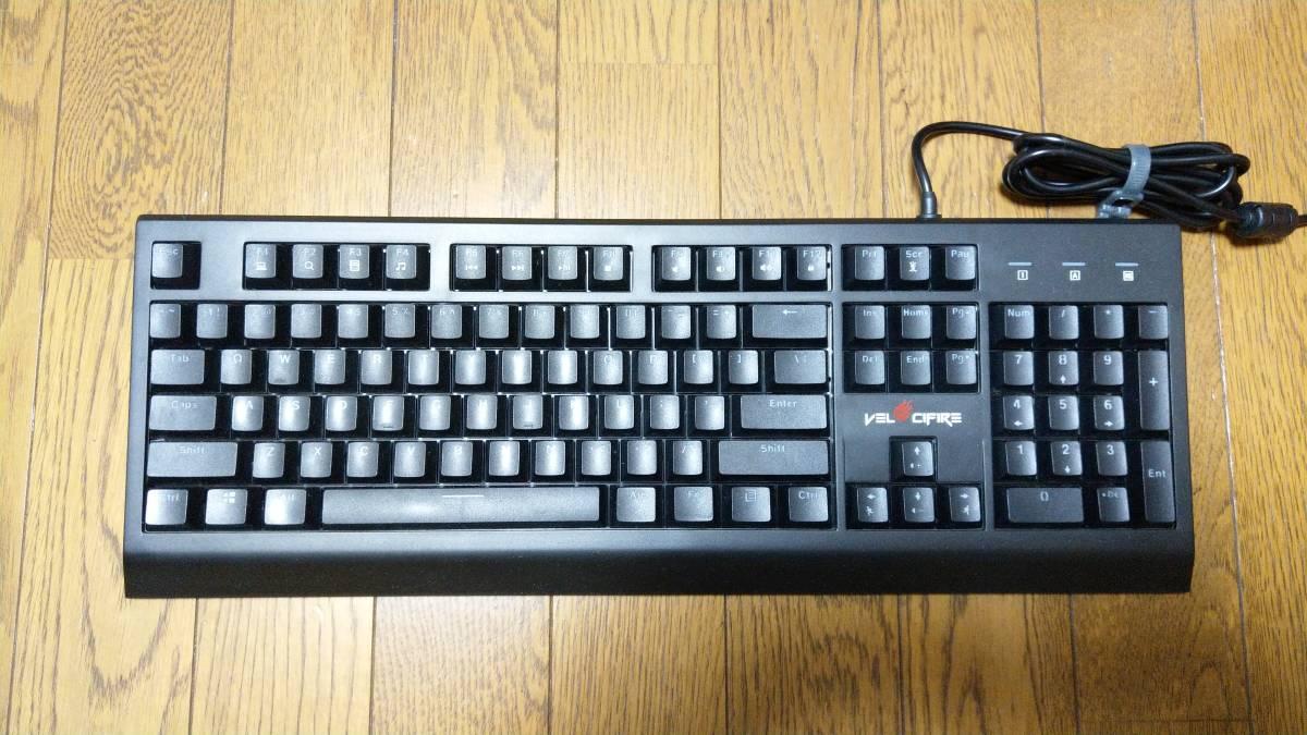 【英語配列104キー】Velocifire メカニカル式 茶軸 USB有線 LEDバックライト付き ブラック VM01【ゲーミングキーボード】