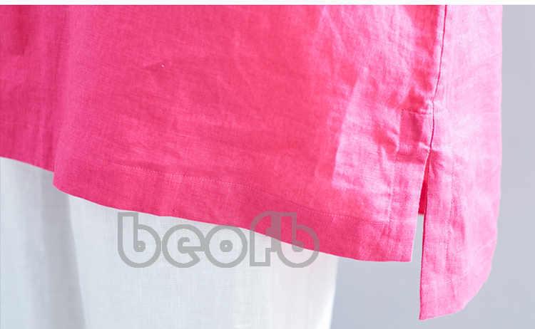 ☆見る人の目を奪い☆Tシャツ 7分袖 ブラウス レディース 綿麻 カジュアル 着心地のいい お洒落 鮮やか ゆったり 夏B173_画像9