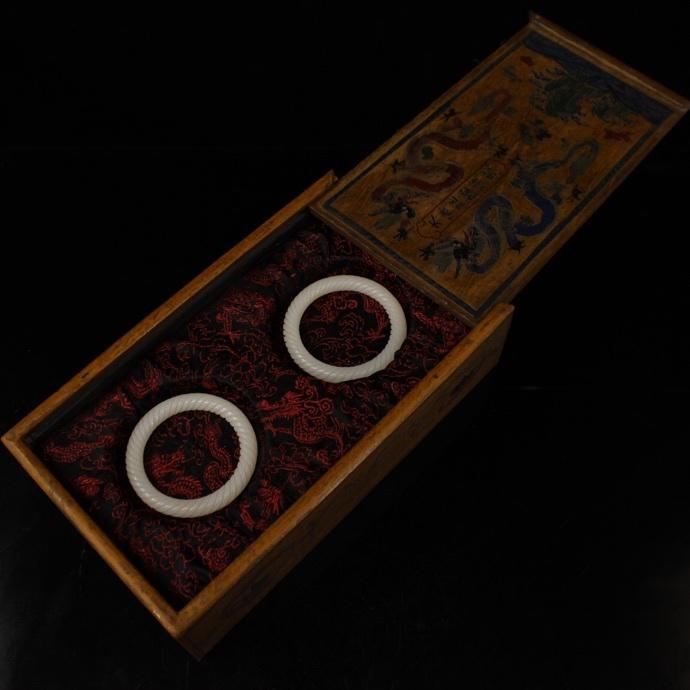 【1906SDW3994】中国古董品 清時代 漆器 和田玉 手環 濁子 擺件 秀作 手彫 精美彫 中国古