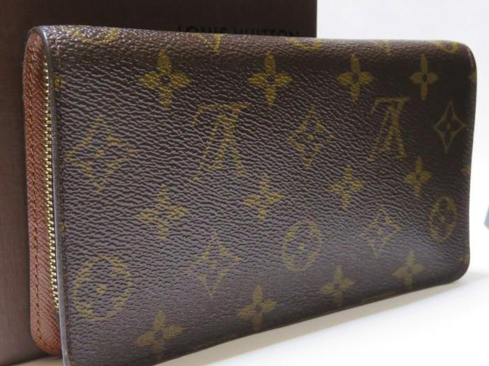 【美品】ルイ・ヴィトン Louis Vuitton モノグラム ポルトモネジップ ラウンドファスナー 長財布 ブラウン_画像2
