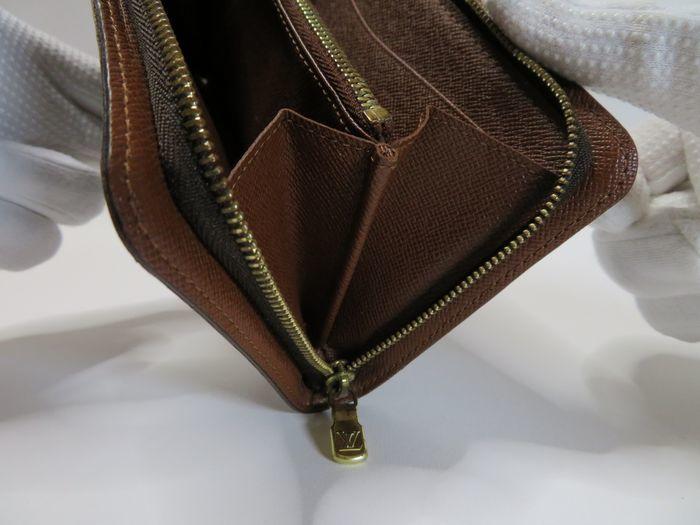 【美品】ルイ・ヴィトン Louis Vuitton モノグラム ポルトモネジップ ラウンドファスナー 長財布 ブラウン_画像5