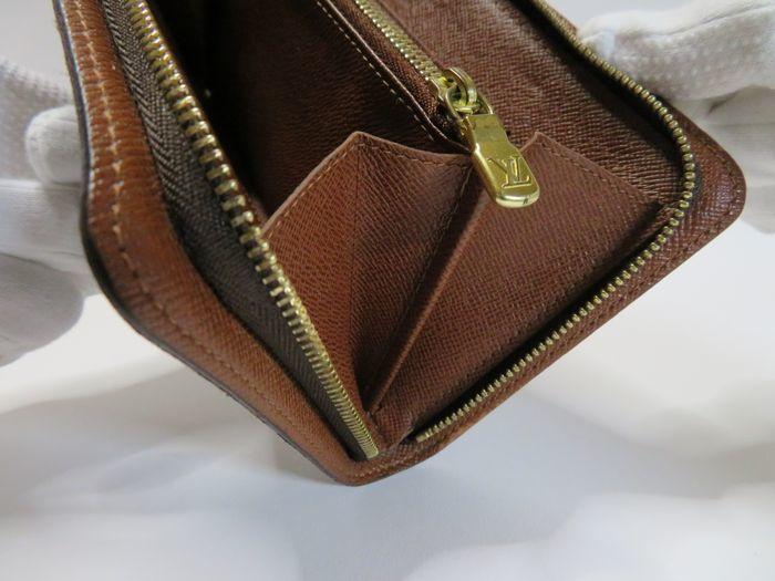 【美品】ルイ・ヴィトン Louis Vuitton モノグラム ポルトモネジップ ラウンドファスナー 長財布 ブラウン_画像6