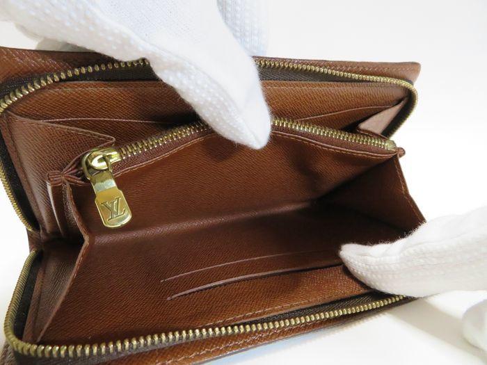 【美品】ルイ・ヴィトン Louis Vuitton モノグラム ポルトモネジップ ラウンドファスナー 長財布 ブラウン_画像7