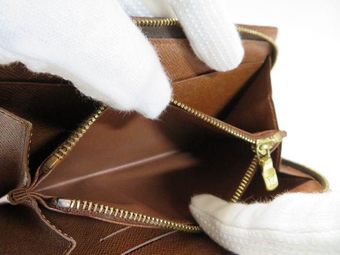 【美品】ルイ・ヴィトン Louis Vuitton モノグラム ポルトモネジップ ラウンドファスナー 長財布 ブラウン_画像8