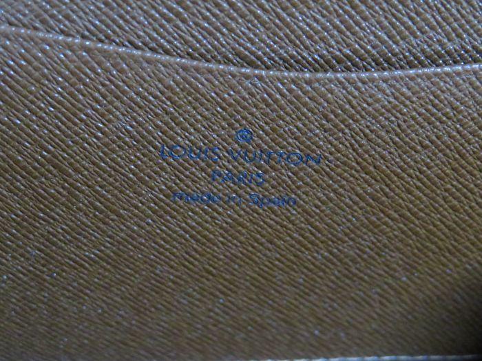 【美品】ルイ・ヴィトン Louis Vuitton モノグラム ポルトモネジップ ラウンドファスナー 長財布 ブラウン_画像9