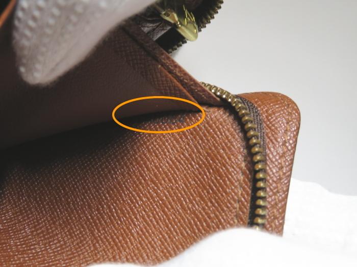 【美品】ルイ・ヴィトン Louis Vuitton モノグラム ポルトモネジップ ラウンドファスナー 長財布 ブラウン_画像10
