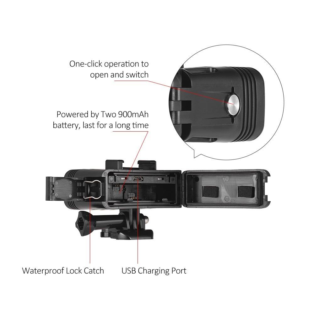 GoPro 7対応 40m 防水 アクションカメラ LEDライト 送料無料_画像8