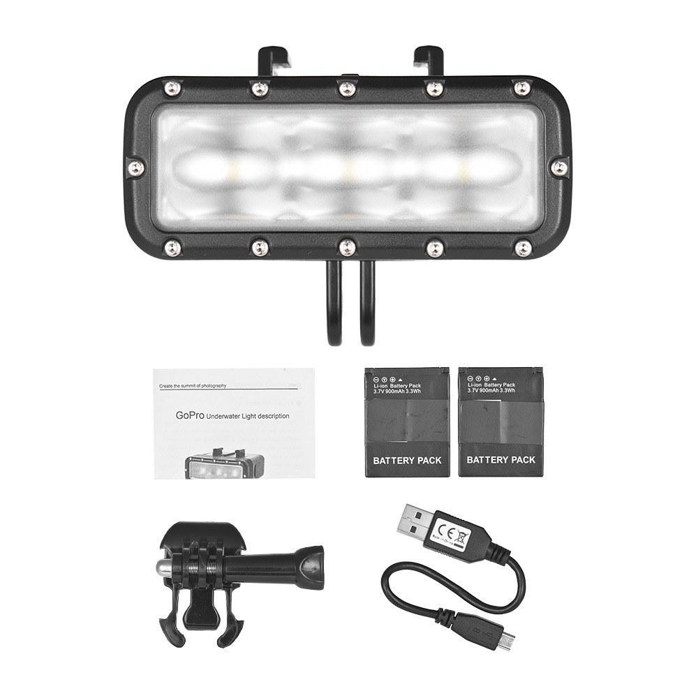 GoPro 7対応 40m 防水 アクションカメラ LEDライト 送料無料_画像10